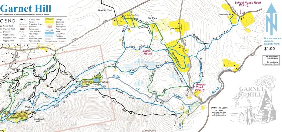 Garnet Hill Lodge trail map