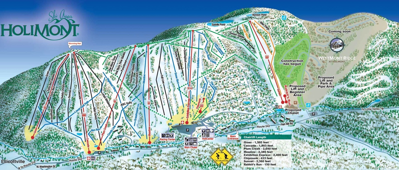 Holimont trail map