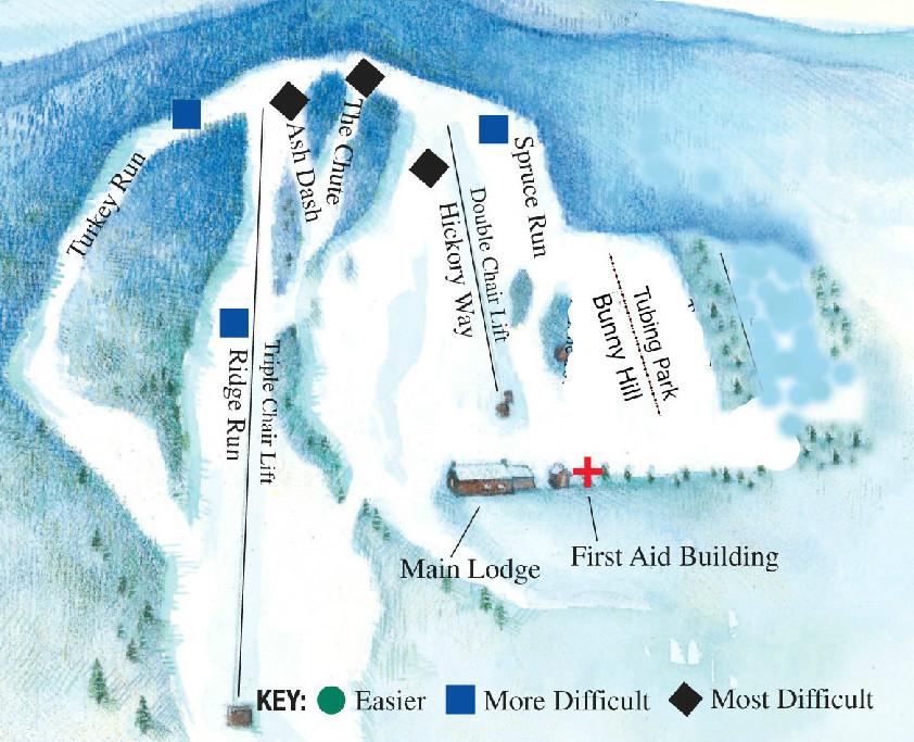 Maple Ski Ridge trail map