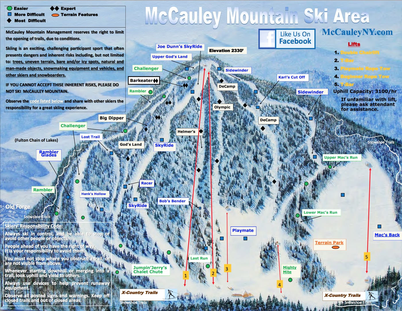 mccauley trail map