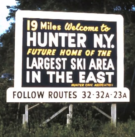 old Hunter Mountain sign
