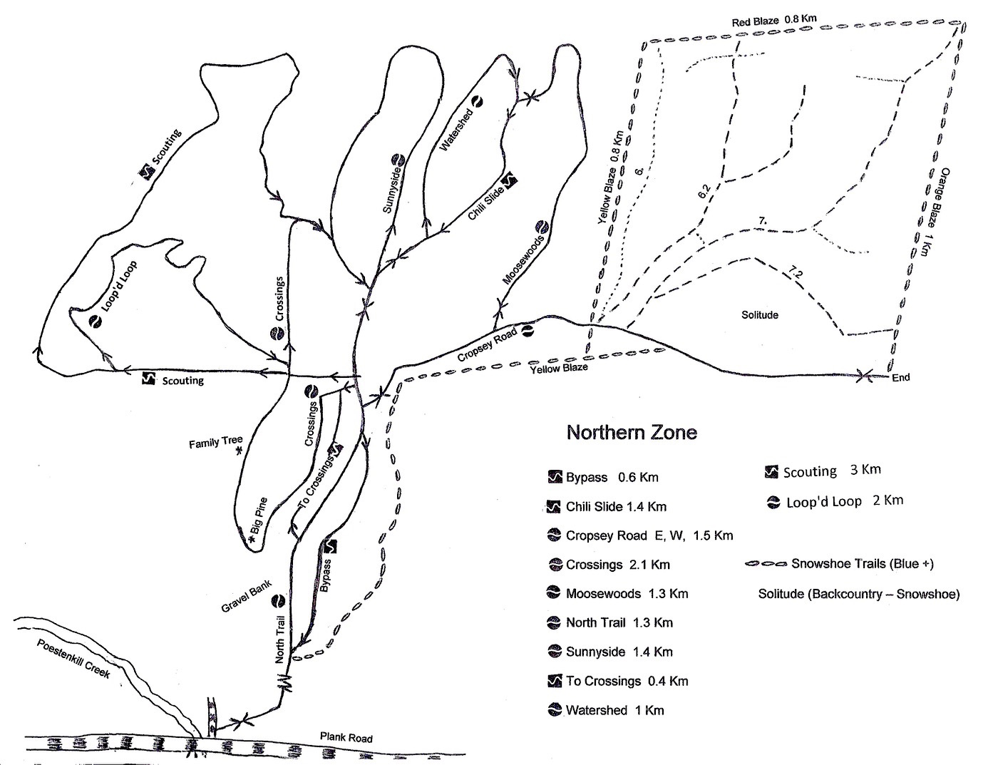 Pineridge trail map