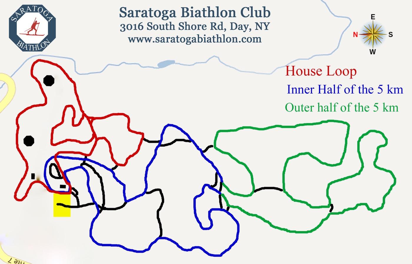 Saratoga Biathlon Club trail map