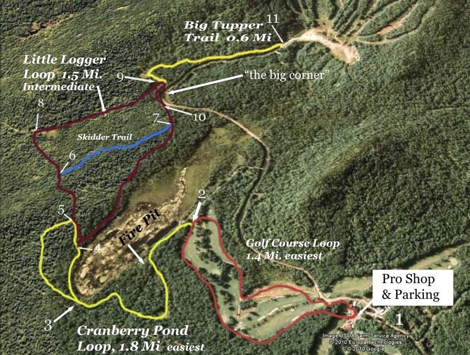Tupper Lake cross country ski-trail-map