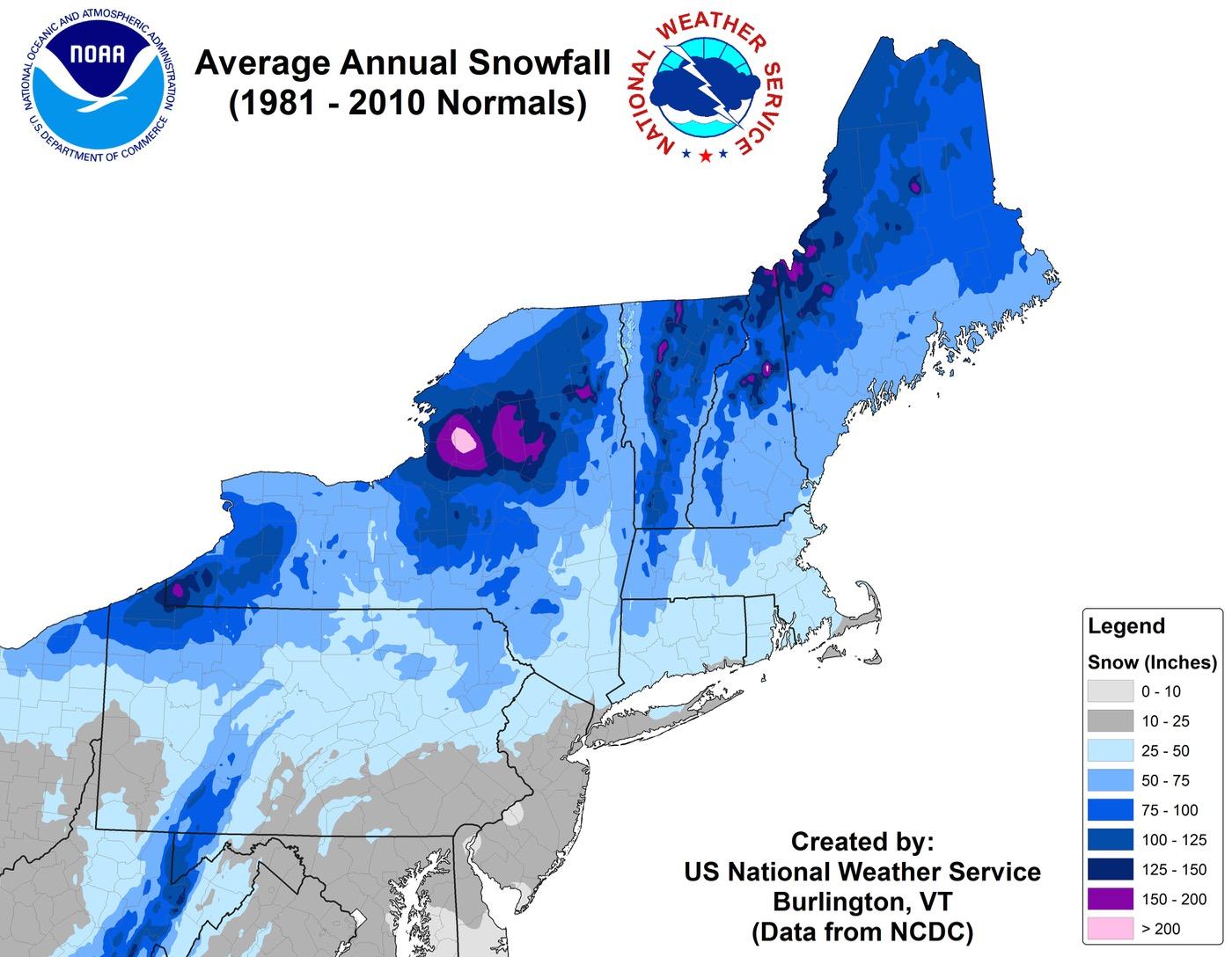 nws-northeast-average-snowfall