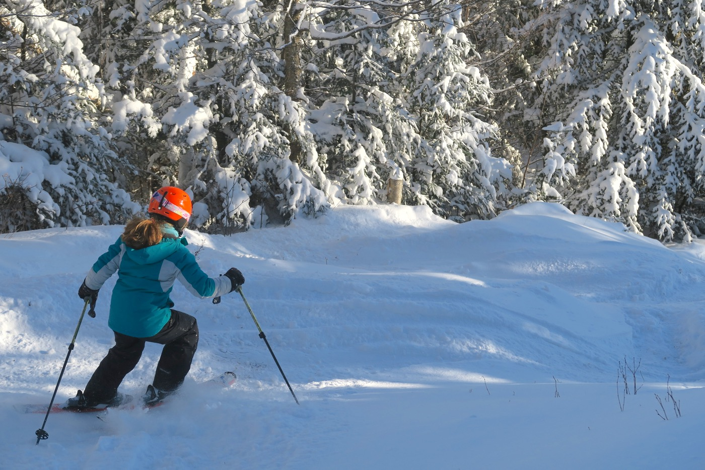 skiing under the straightbrook chair