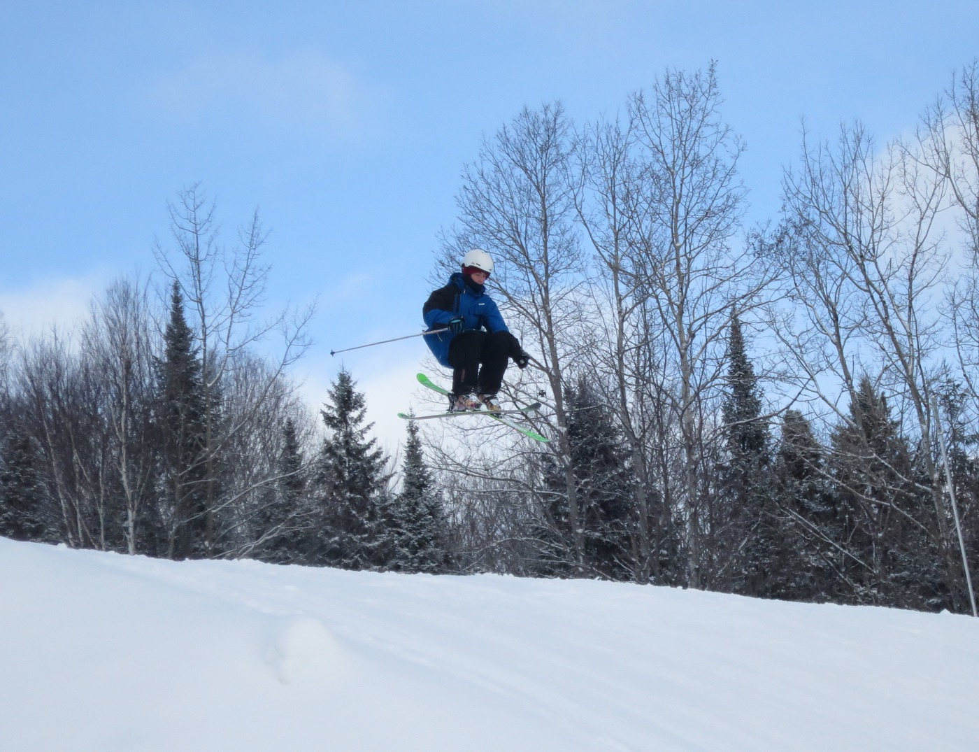 getting air at belle neige