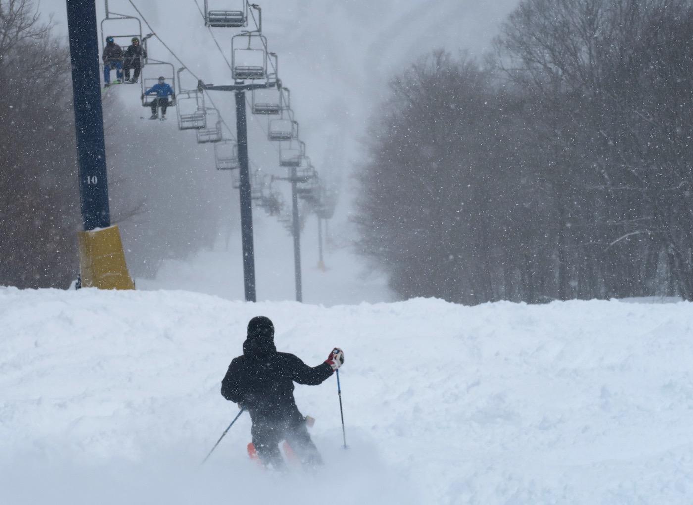 skier on Plunge