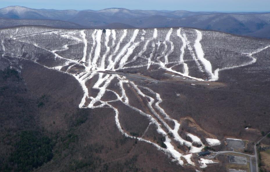 Belleayre winter aerial photo