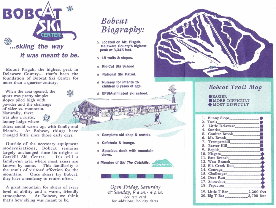 bobcat ski center brochure
