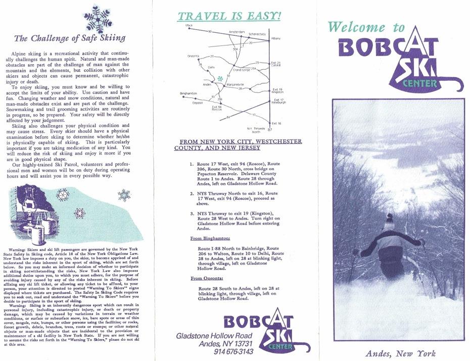 bobcat ski center brochure
