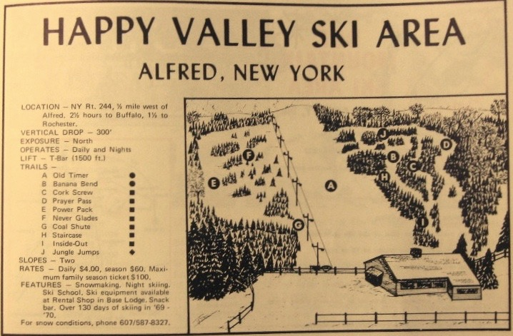 happy valley ski area trail map