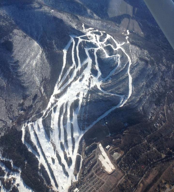 Hunter Mountain aerial April 2013