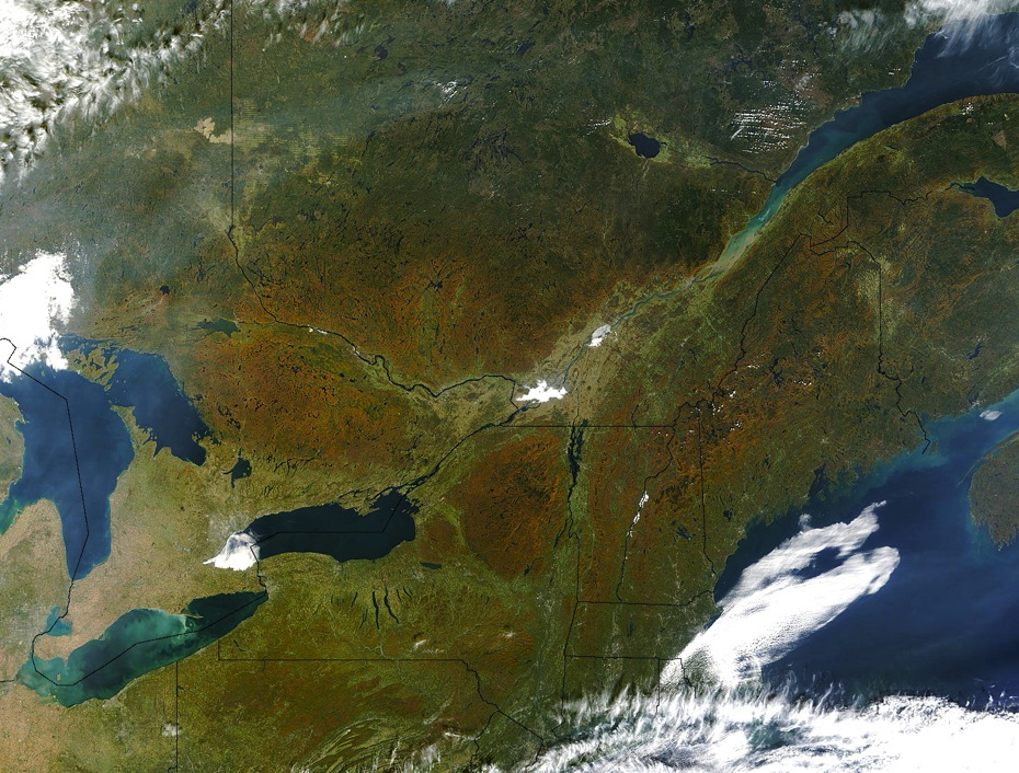 fall foliage from space