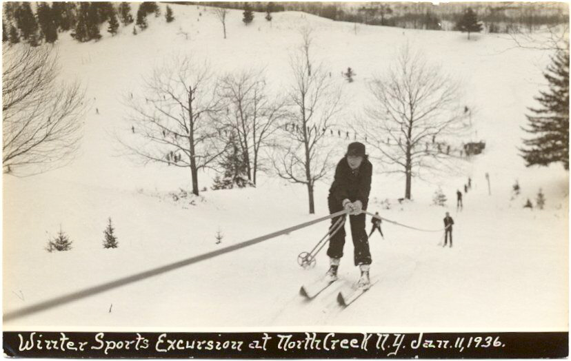 north creek ski bowl postcard 1968