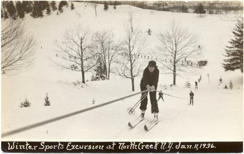 north creek ski bowl postcard 1968