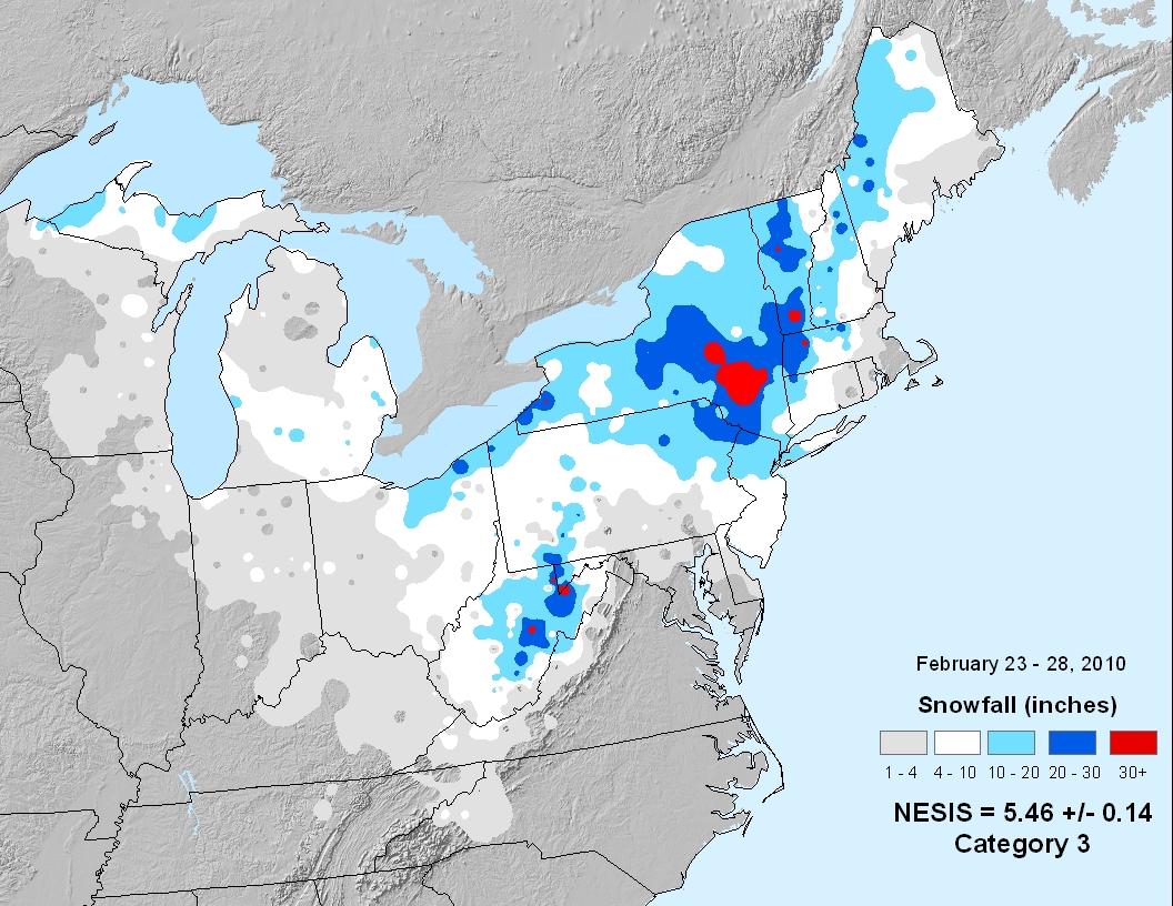 Snowmageddon 2010 storm totals