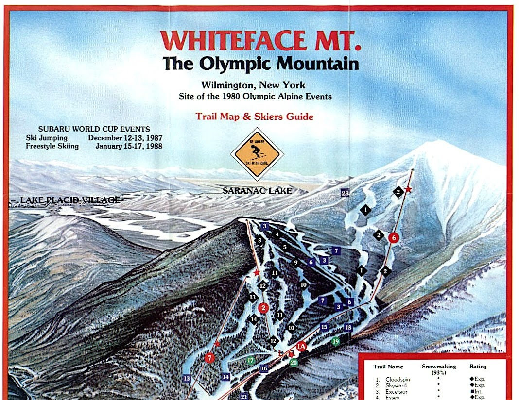 whiteface trail guide 1987