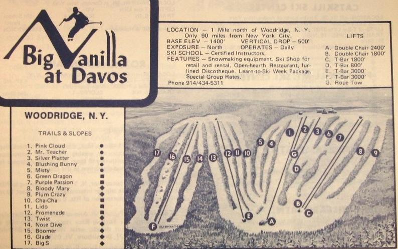 big vanilla at davos trail map