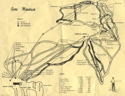 gore mountain trail map 1969