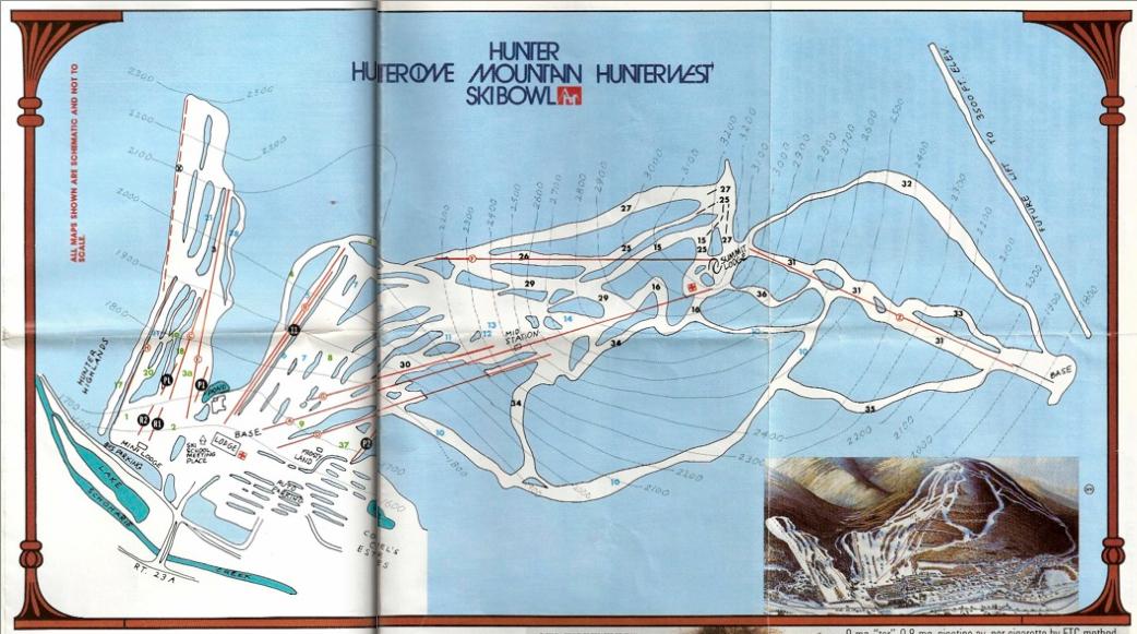 hunter mountain trail map 1983