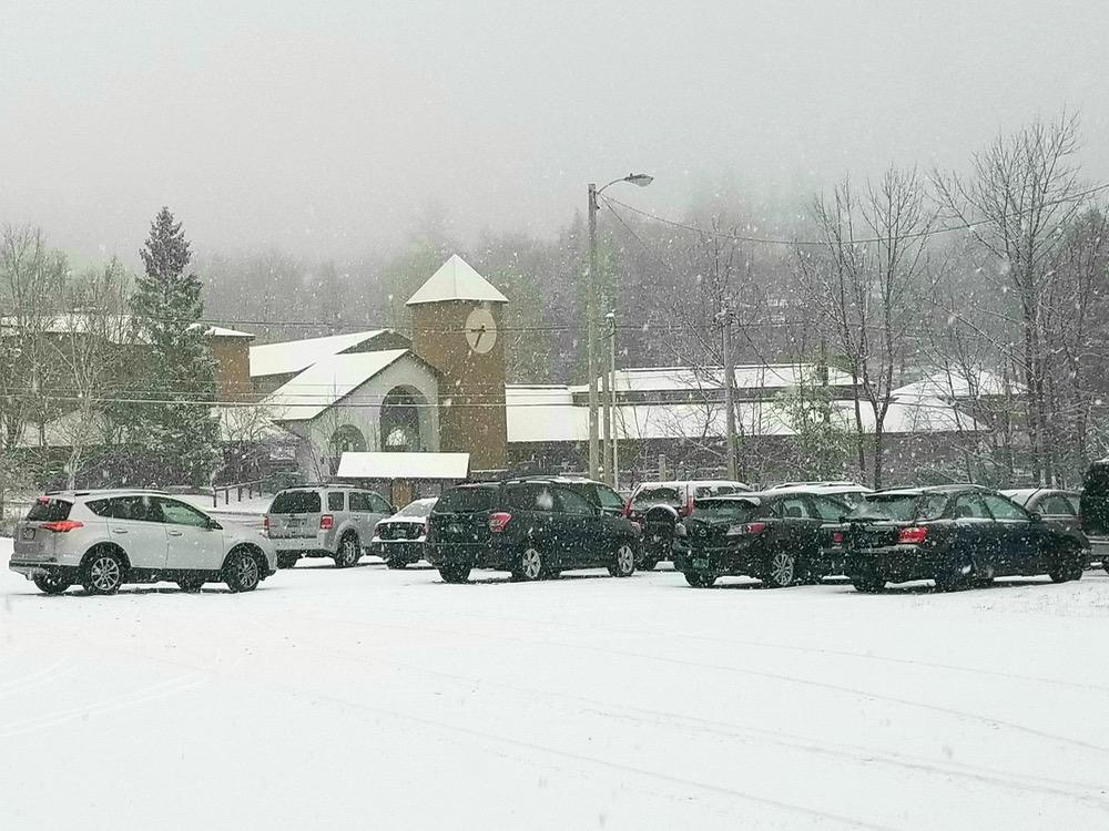 morning snow at okemo
