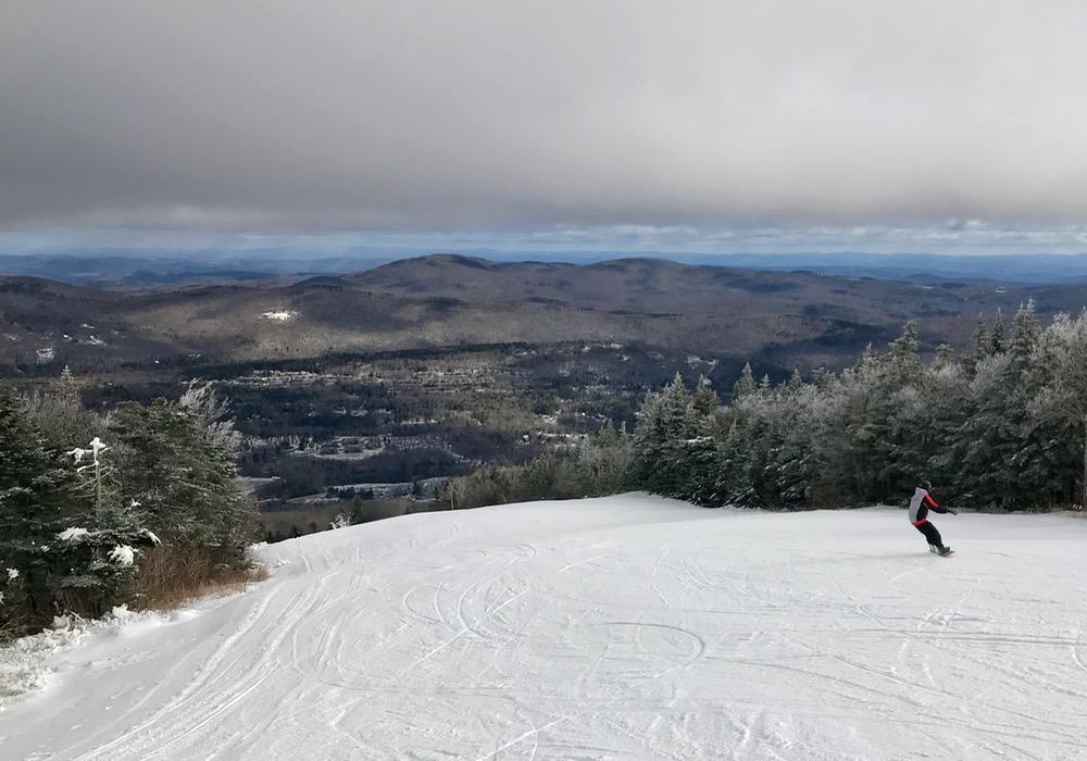 mount snow snowboarder
