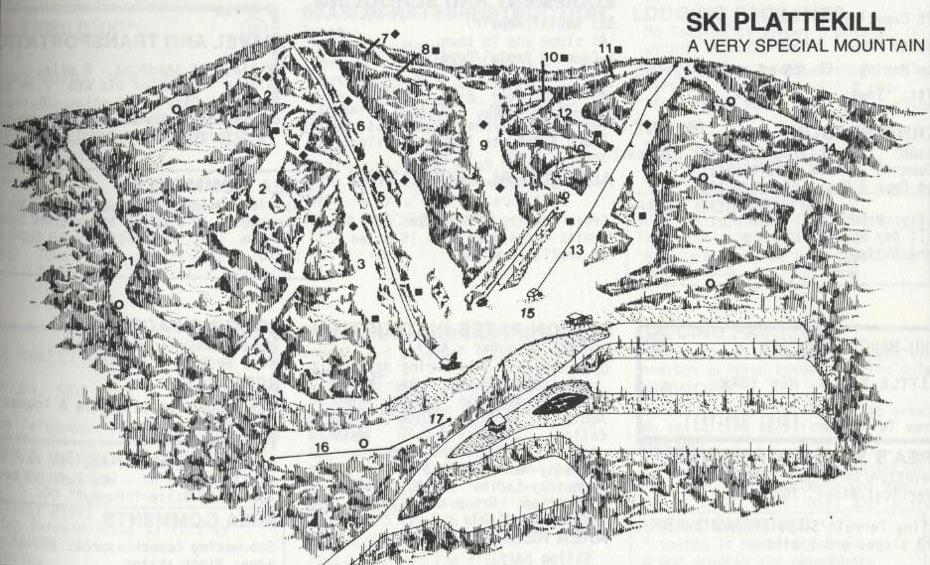 plattekill ski trail map 1980