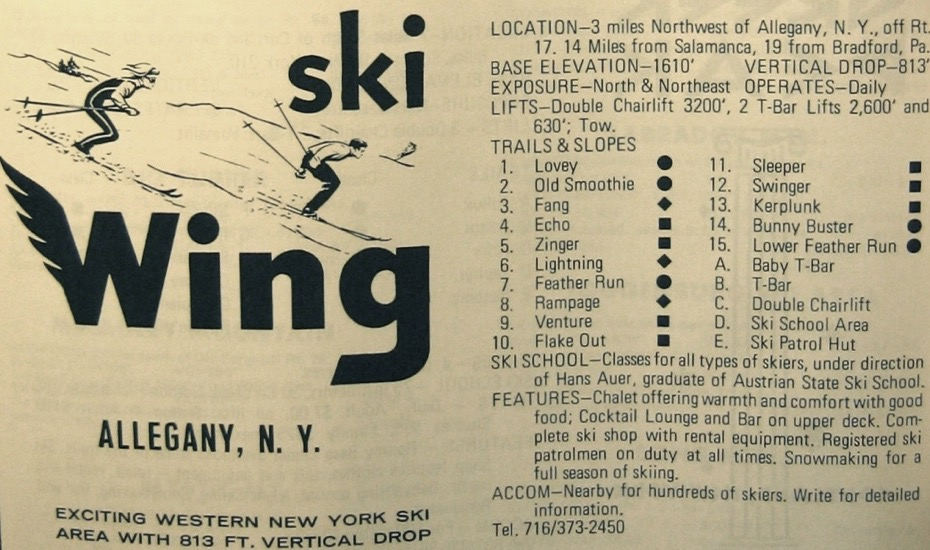 ski wing trail map key