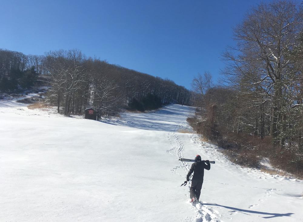 hiking Silvermine ski area