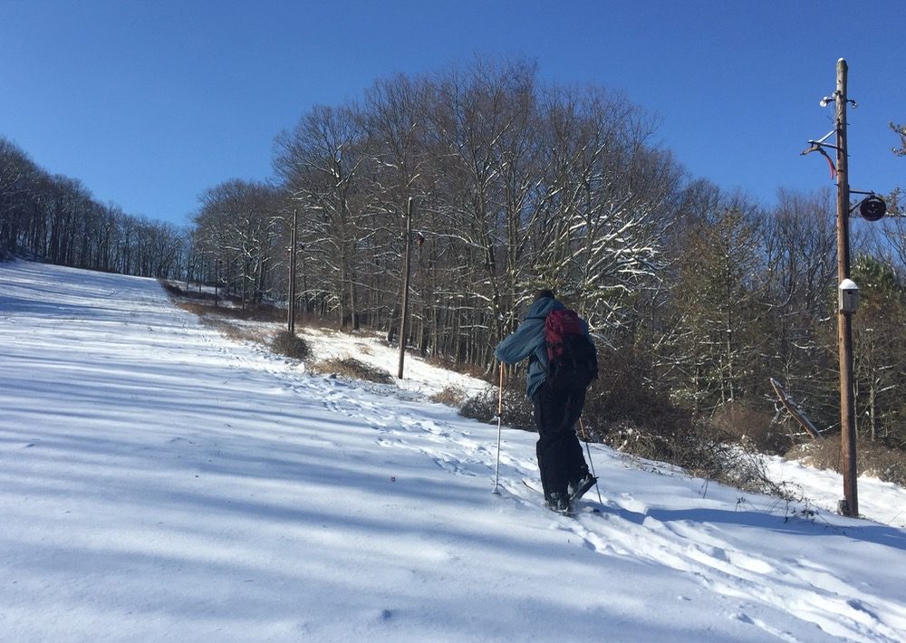 skinning Silvermine ski area
