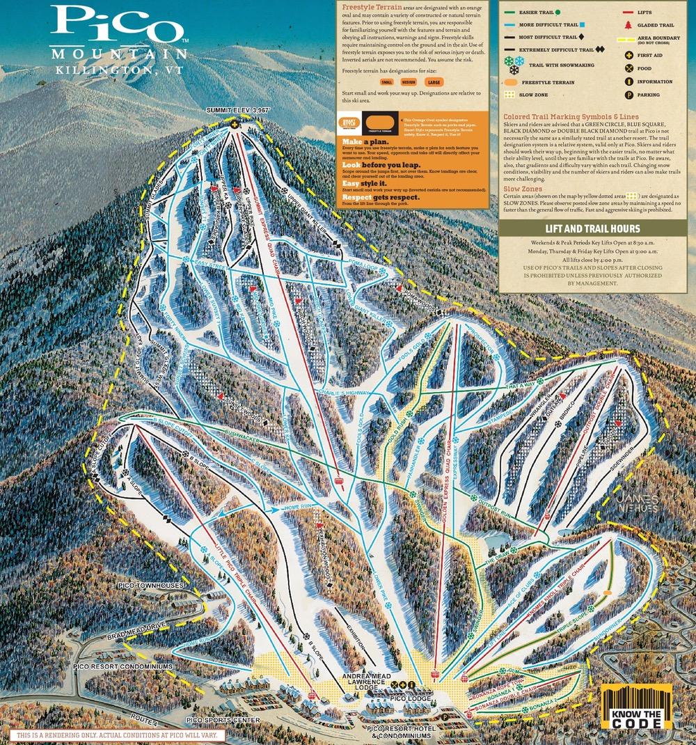 pico mountain trail map