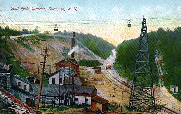 split rock quarry postcard