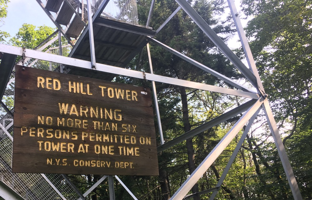 Red Hill fire tower sign