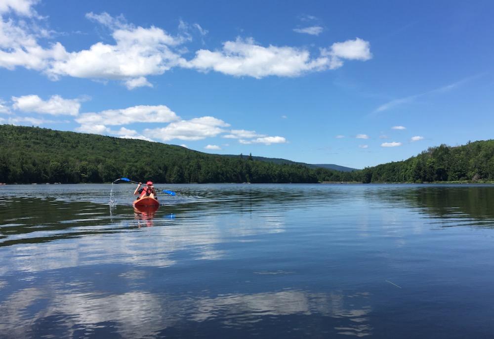paddling North South Lake