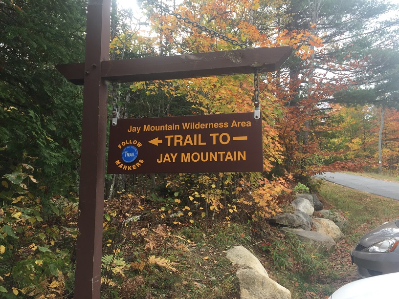 jay mountain trailhead sign