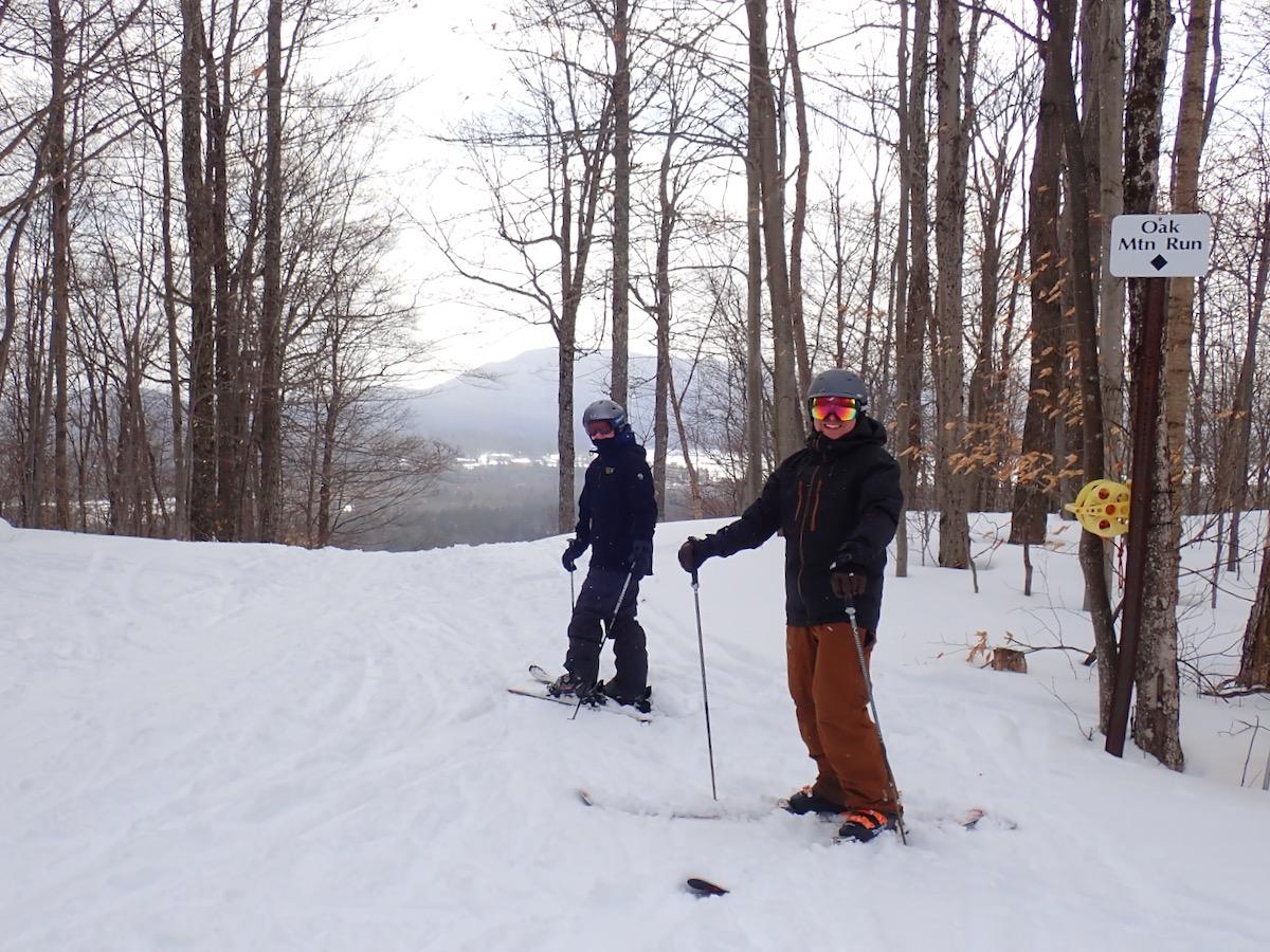 smiling skiers