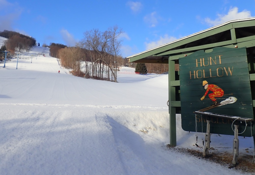 Hunt Hollow sign
