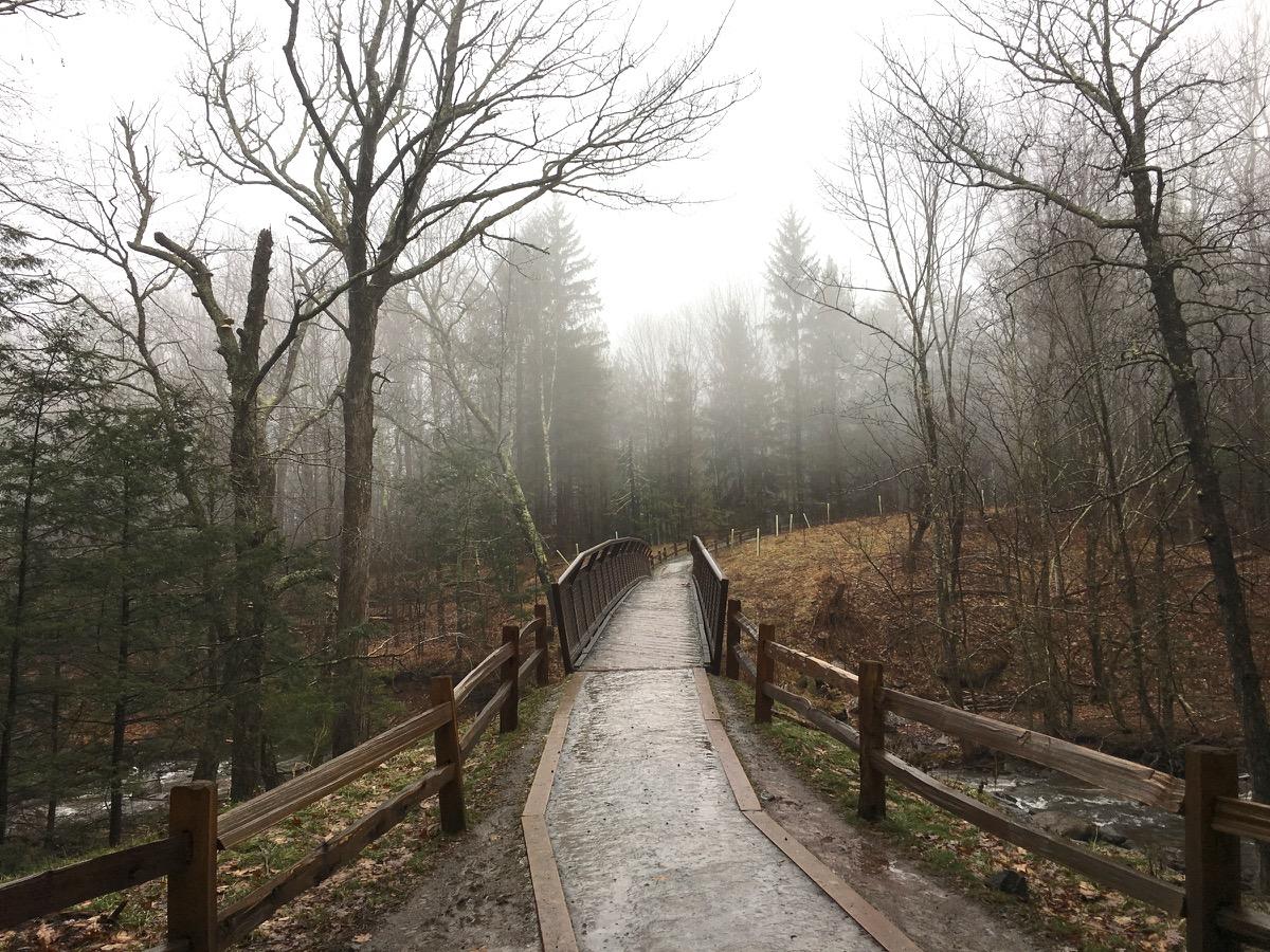 Kaaterskill Falls foot bridge