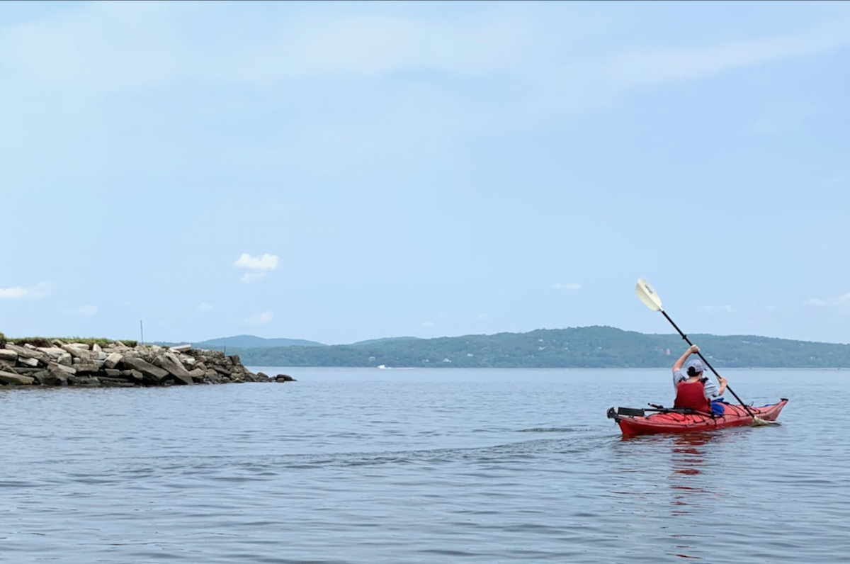 Haverstraw Bay paddler