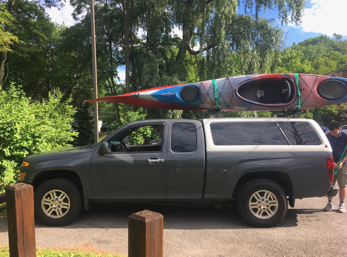 kayaks on the truck