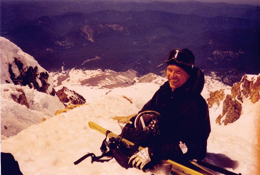 Doug Fish on the summit of Mount Hood