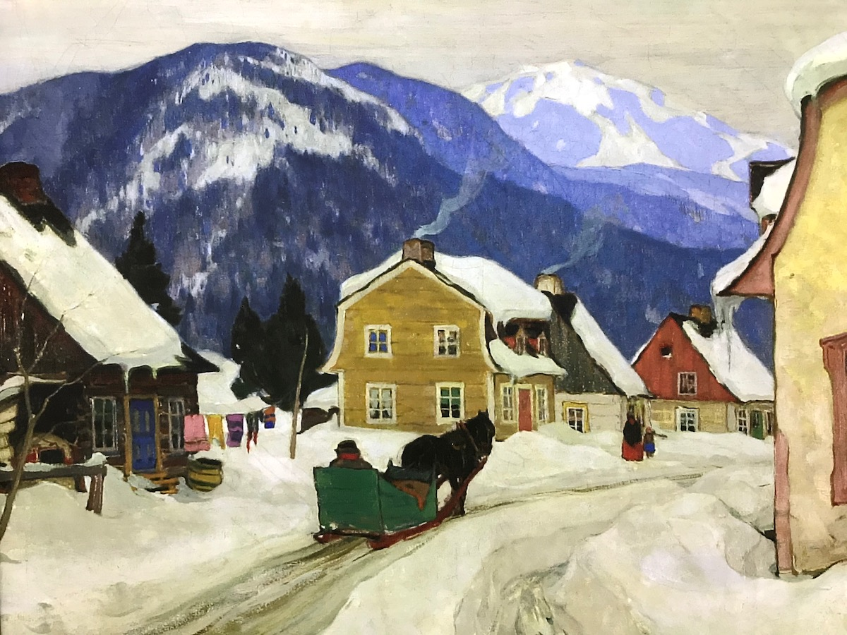 Painting by Clarence Gagnon