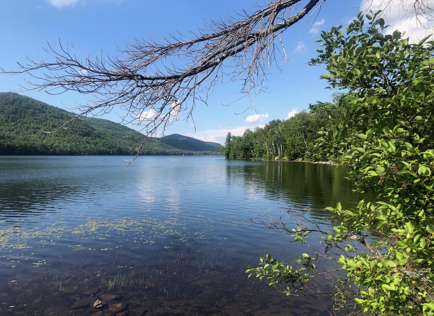 sunny day on Thirteenth Lake