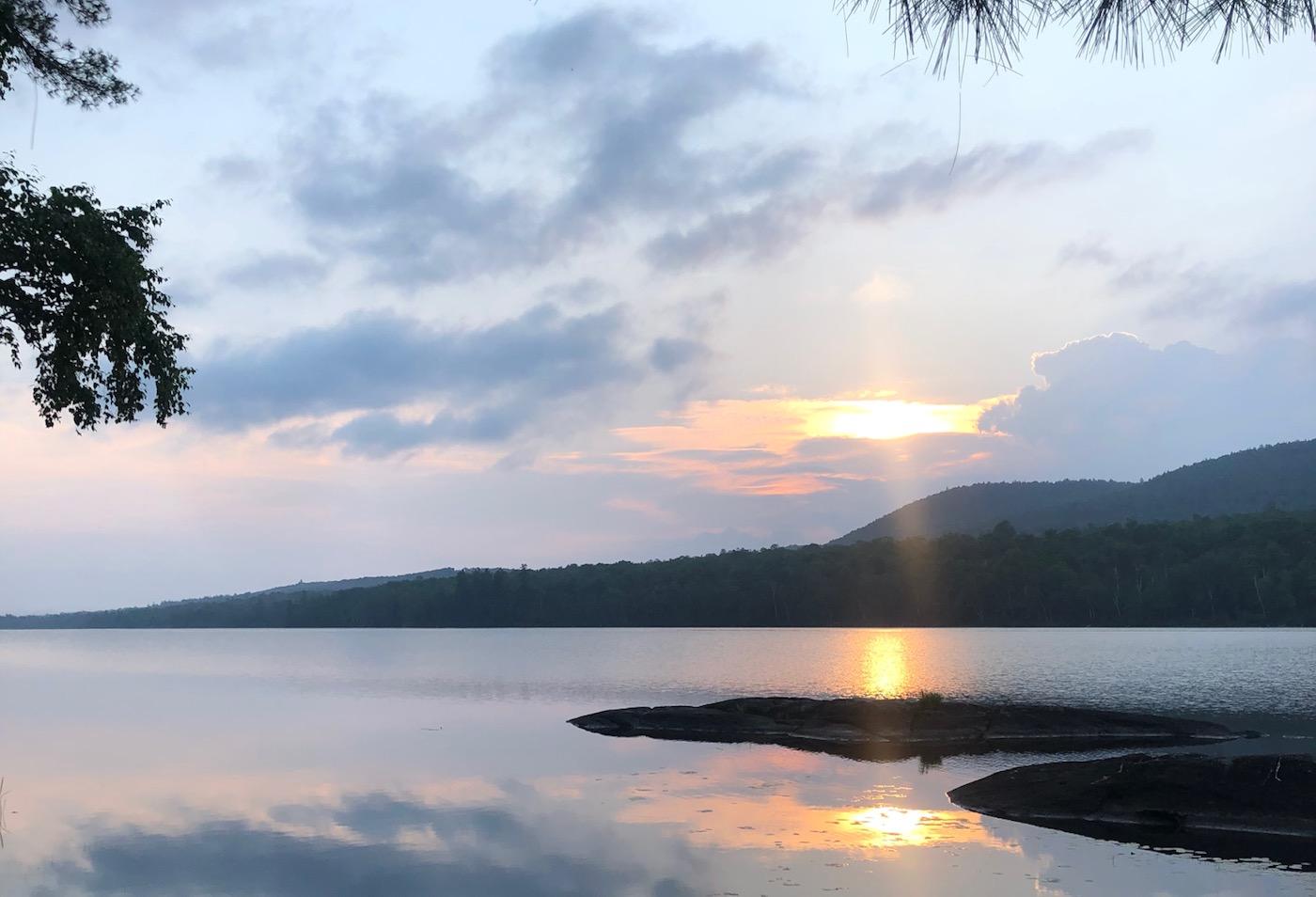 sunset on Thirteenth Lake