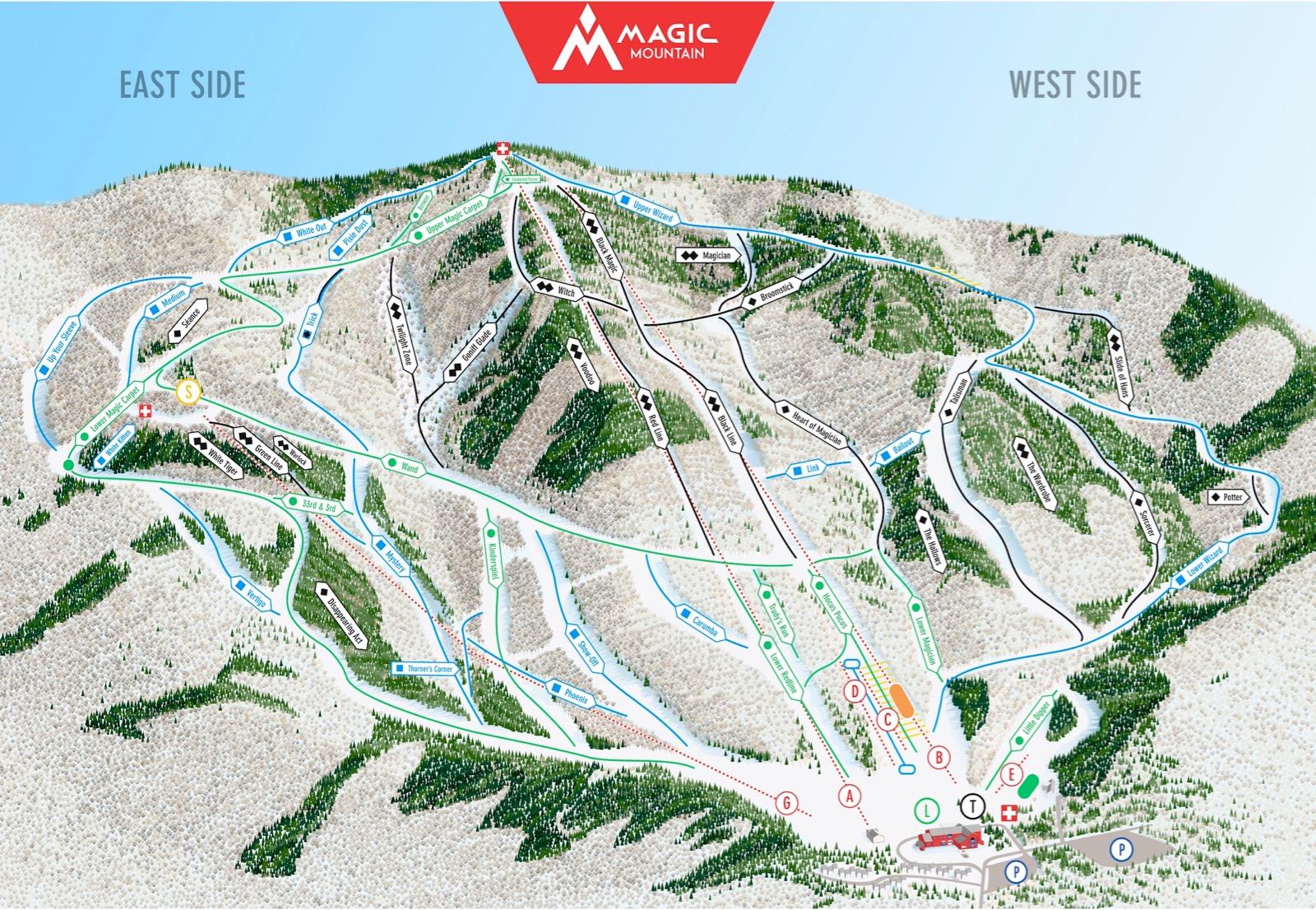 Magic Mountain trail map