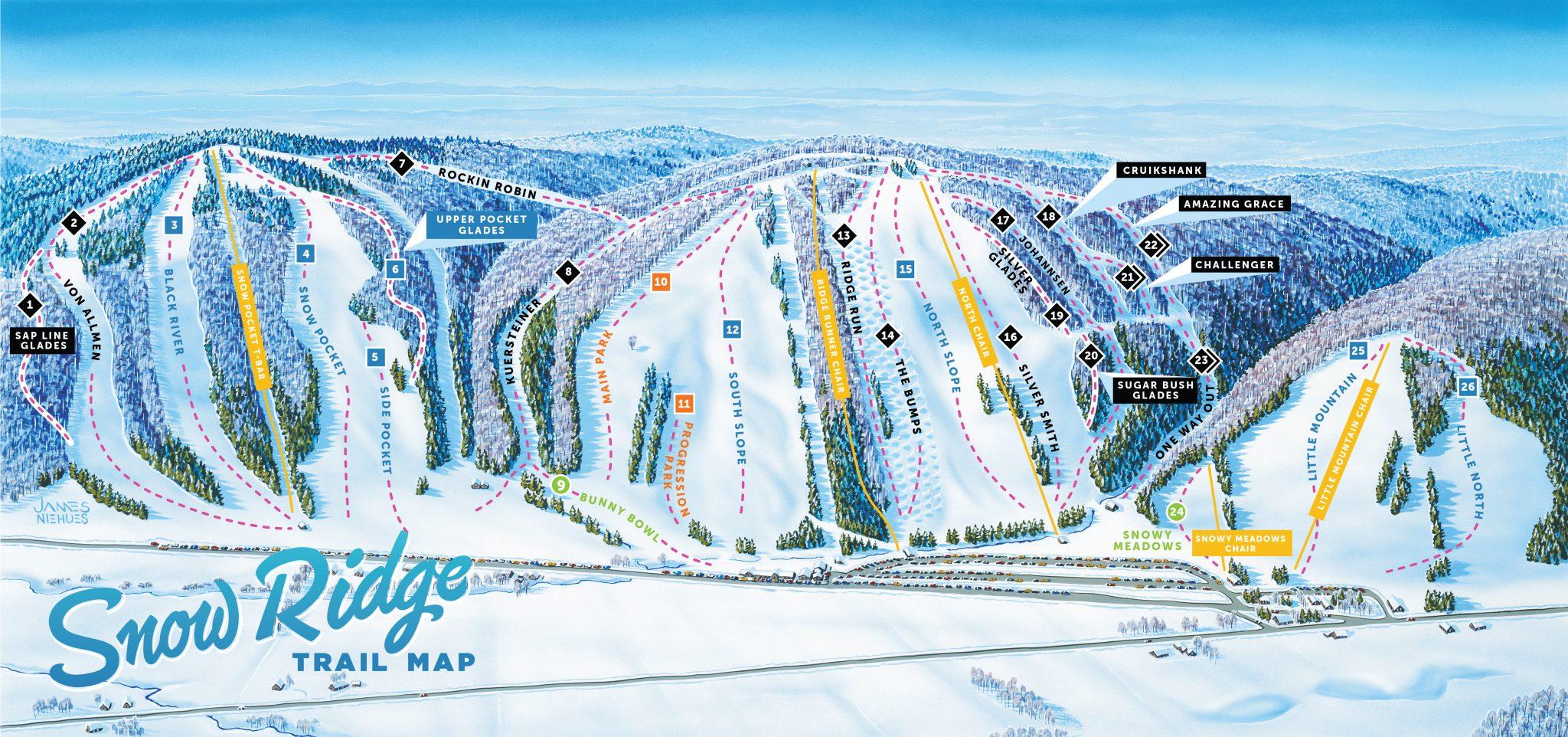 Snow Ridge trail map