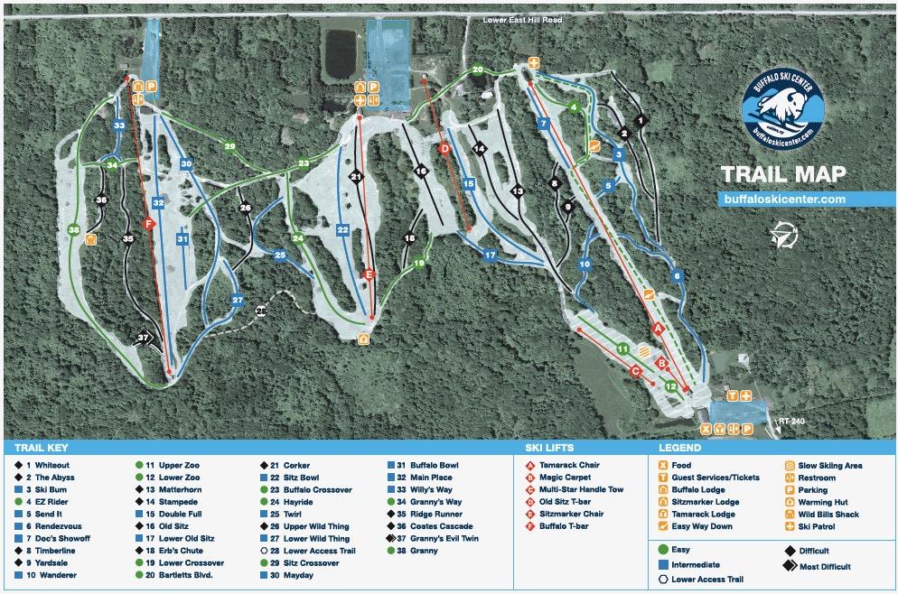Buffalo Ski Center trail map