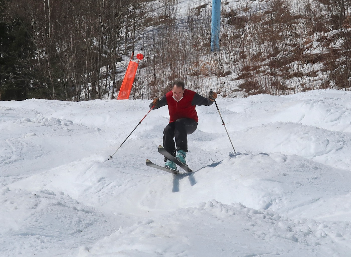 skiing the bumps
