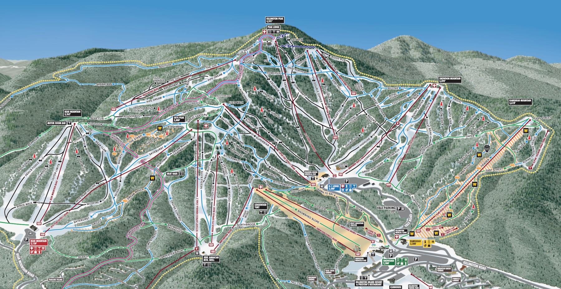 Killington trail map